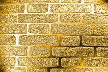 Golden Brick Wall. The Texture...