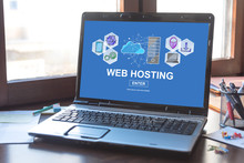 Hosting Concept On A Laptop Screen