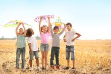Little Children Flying Kites O...