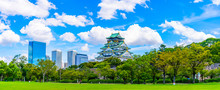 青空と緑の大阪城