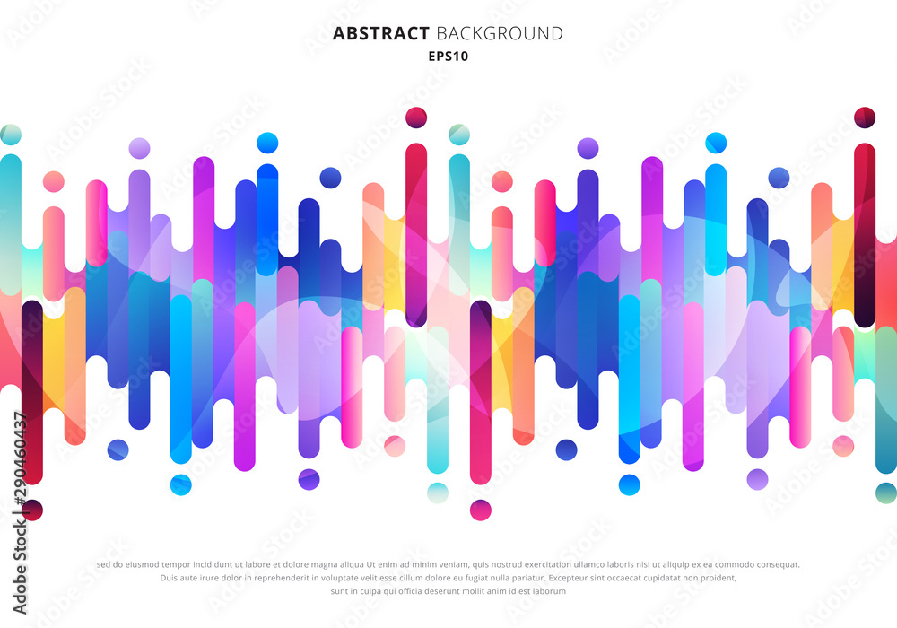 Fototapety, obrazy: Abstract fluid or liquid colorful rounded lines transition elements on white background with space for your text.