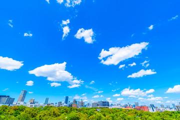 青空 大阪 都市風景