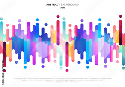 Carta da parati Abstract fluid or liquid colorful rounded lines transition elements on white background with space for your text