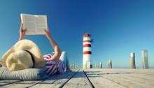 Buch Lesen Am Leuchtturm