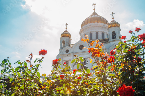 Wall Murals Old building Cathedral of Christ the Savior in Moscow, Russia