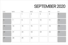 September 2020 Desk Calendar V...