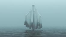 Floating Evil Spirit Ghost Wit...