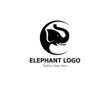 Elephant Logo Template Vector Illustration Design