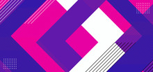 Geometric Background Abstract With Triangle Composition Design. Purple, Pink, Blue, And White Colorful Vector Illustration.