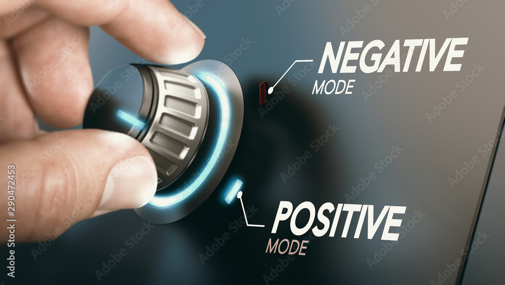 Fototapeta Change to positive attitude. Psychology concept.