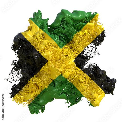 Valokuvatapetti Jamaica flag liquid
