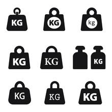 Weight Kilogram Icon Vector Is...