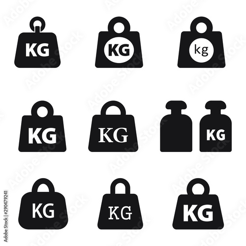 Fotografia Weight kilogram icon vector isolated
