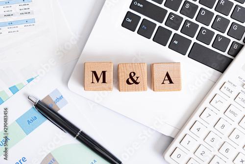 M&A アルファベットの文字 Canvas Print