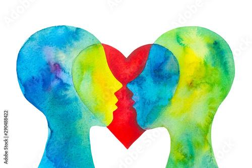 Papel de parede  Disegno grafico coppia innamorata cuore sfondo bianco