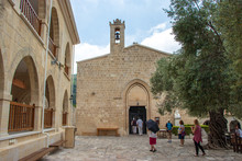 View Of The Entrance Of Church In Agios Neofytos Monastery, Pafos, Cyprus, Greece