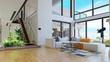 Leinwanddruck Bild - modern house interior.
