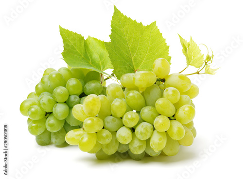 green grapes isolated on the white background Fototapet