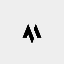 Letter M AM MA MM Monogram Log...