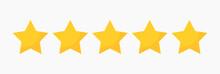 Stars Quality Rating Icon.