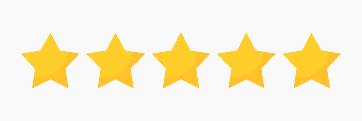 Stars quality rating icon.