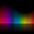 canvas print picture - Abstract Rainbow Colored Bars Illustration