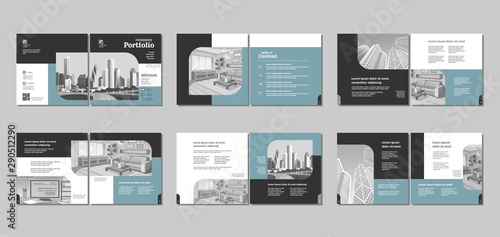 Brochure creative design Canvas Print