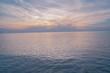 Beautiful sunrise sky over sea.