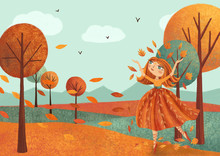 Autumn Landscape (card) With F...
