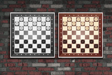 Wooden Checkerboard With Check...