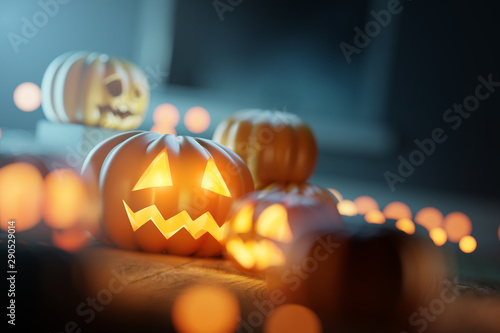 Autumn Halloween Decorations And Pumpkins Buy This Stock