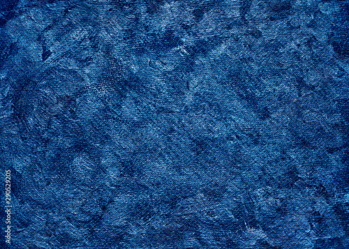 Fotografía  Beautiful blue denim fabric close up