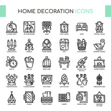Home Decoration , Thin Line An...