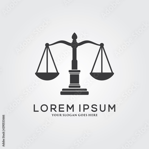 Law Firm Logo Template Design Wall mural