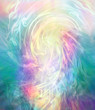 canvas print picture Not of this world energy background - Beautiful ethereal flowing multicoloured energy vortex background