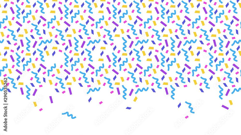 Fototapety, obrazy: Confetti on white background