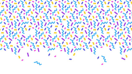 Confetti on white background