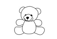 Teddy Bear Linear Icon. Thin L...