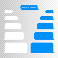 Message Bubbles Design Template For Messenger Chat Or Website. Modern Vector Illustration Flat Style