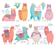 Cute Llamas With Funny Quotes....