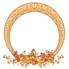Elegant Circle Art Nouveau Sty...