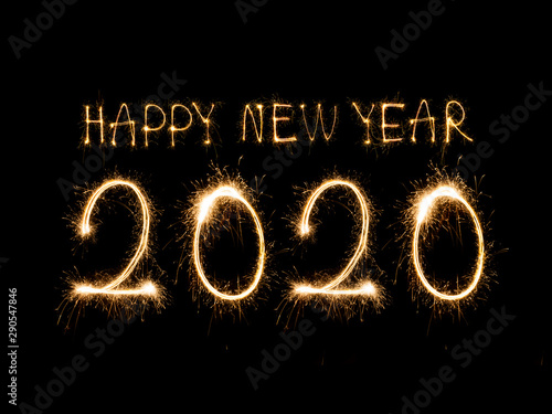 Happy New Year 2020 Canvas-taulu