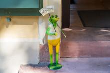 Frog Saying Welcome