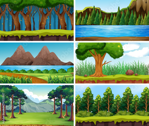 Canvas Prints Kids Empty, blank landscape nature scenes