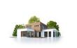 Moderne Villa 4 isoliert weiß