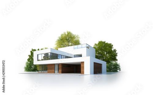 Moderne Villa isoliert weiß