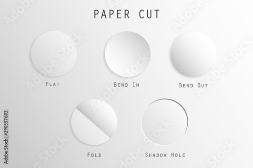 Photo  A type of circle paper cut vector.