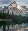 Cathedral Mountain towering over Lake O'hara, British Columbia, Canada