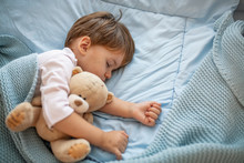Cute Little Kid Sleeping. Litt...