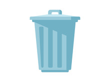 ゴミ箱のシンプルなイラスト